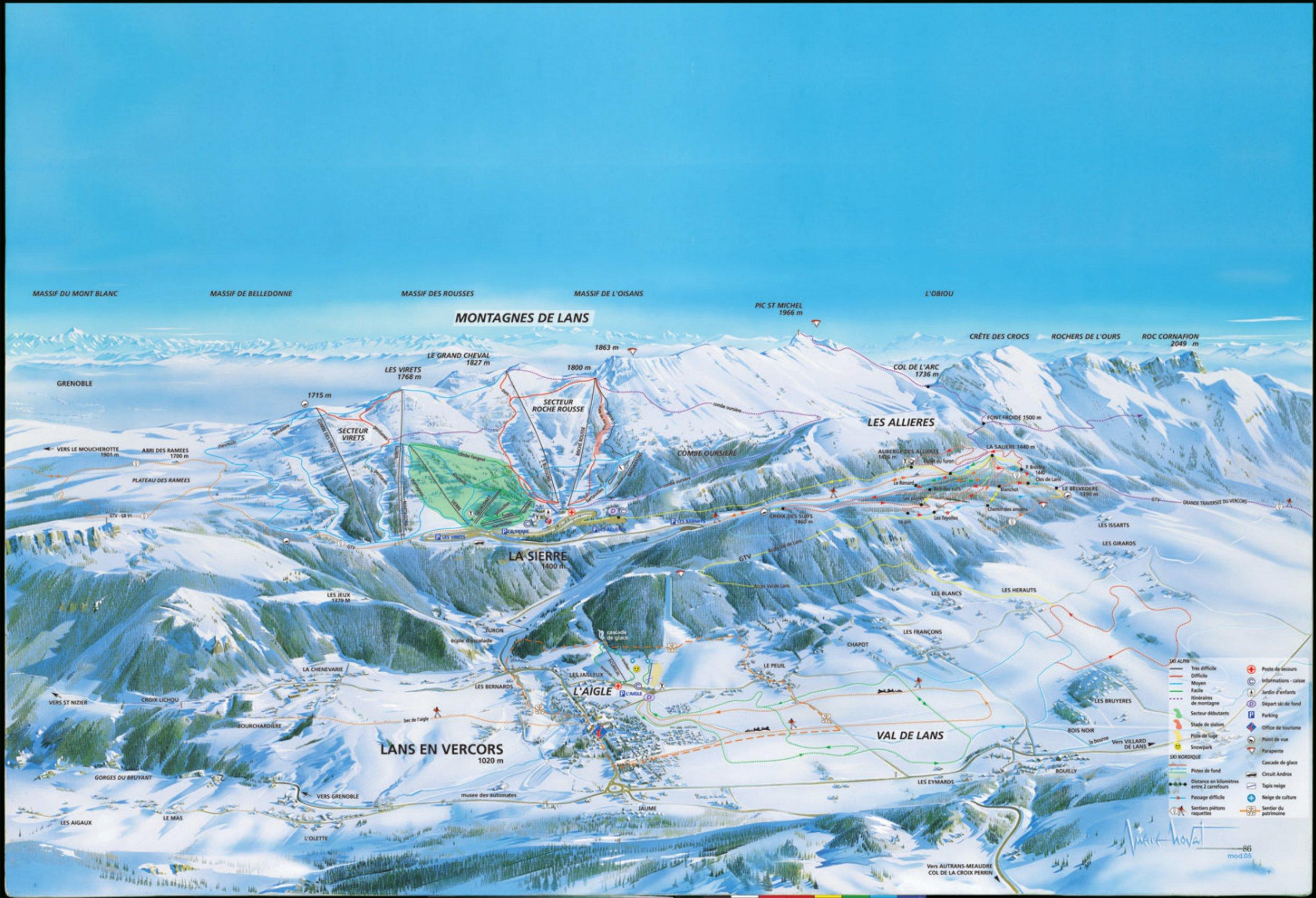 Lans en vercors station de ski 45 min de grenoble - Office du tourisme lans en vercors ...